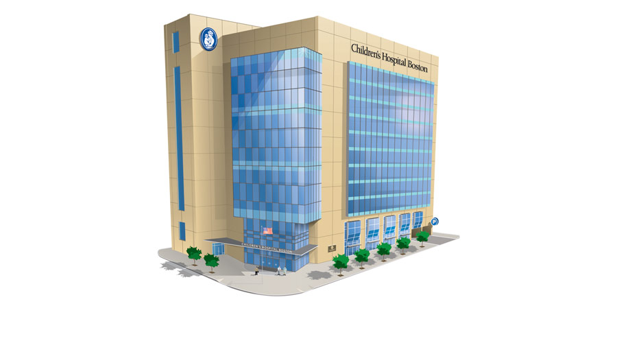 Architectural Rendering of Hospital Building for Children's Hospital