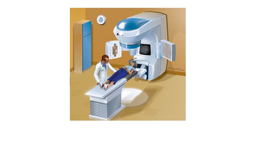Trilogy Cancer Radiation Operating Room Illustration